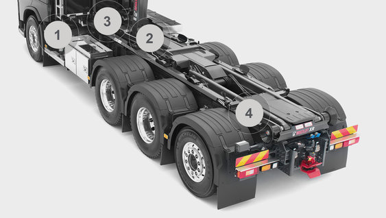 Volvo FH16 forvogns-chassis