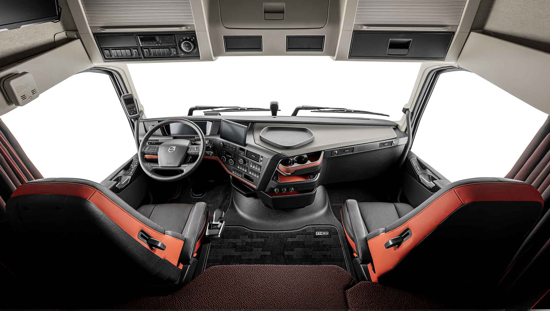 The updated cab interior of the Volvo FH and Volvo FH16