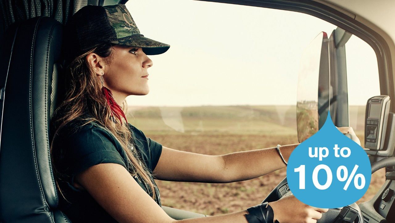 Volvo trucks about us every drop counts female driver